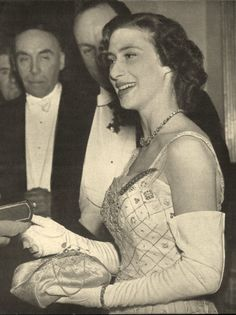 https://flic.kr/p/b7uxSn | H.R.H.Princess Margaret | Princess Margaret at Royal Aero Club ball /1951/