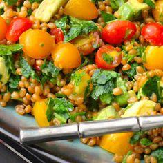Heirloom Tomato & Avocado Wheat Berry Salad