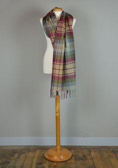 Scottish Lambswool Blanket Scarf in Auld Scotland Tartan