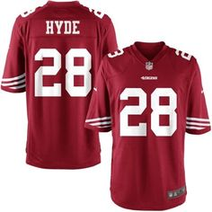 Nike Youth San Francisco 49ers Carlos Hyde Team Color Game Jersey. the only thing i want for my birthday. i adore Carlos Hyde.