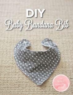 DIY Baby Bandana Bib | The Wine Country Mama | www.thewinecountrymama.com