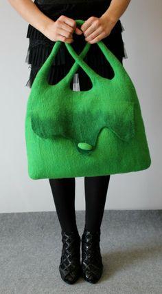 Felt Handbag Lavandula mallette
