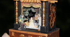 """J'aime infiniment l'opéra, et l'un de mes favoris est """"La Flûte enchantée"""" de Mozart. J'ai décidé de le représenter dans un """"toy théâtre... Childrens Shop, Toy Theatre, Mozart, Decoration, Dollhouse Miniatures, Painting, Printables, Furniture, Paper"""