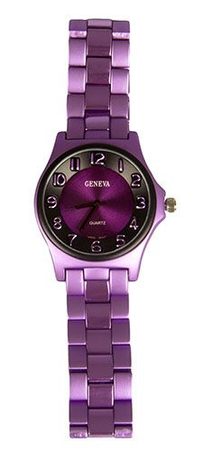 Unisex Metal Purple Watch