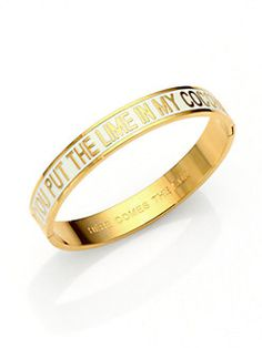 Kate Spade New York - Here Comes the Sun Enamel Idiom Bangle Bracelet