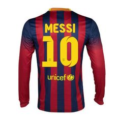 Barcelona Soccer Jerseys Sale Home Long Sleeve Nike 13 14 Collection10 Messi online