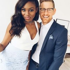 Patricia+Mike = Gorgeous interracial married couple #love #wmbw #bwwm