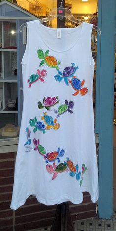 Ladies TurtlePower Sleeveless Dress by DeborahWillardDesign, $68.00