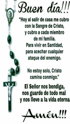 blanca morales's media content and analytics Catholic Prayer For Healing, Catholic Prayers In Spanish, Prayers For Healing, God Prayer, Prayer Quotes, Faith Quotes, Faith Prayer, Good Night Prayer, Gods Love Quotes