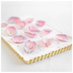 Roses and Gold. A Rose Water Tart  (Candied rose petal recipe too)