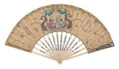 Another beautiful hand fan belonging to Antoinette.
