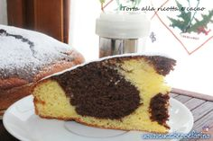 simple cake with ricotta and chocolate