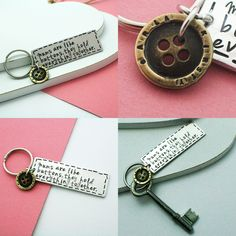 Personalised mums are like buttons, they hold everything together Mother's Day keyring  goo.gl/XhFLFt