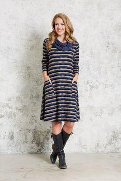 Pont Neuf - Kitty V2507 Dress – Dagny V2797 Scarf Shirt Dress, T Shirt, Dresses With Sleeves, Autumn, Spring, Long Sleeve, Kitty, Fashion, Bohemia