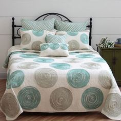 Always Home Madison Quilt Coordinates. Grey and teal bedding at Kohl's.