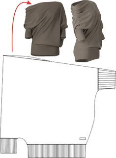 Drapey sweater top http://secondstreet.ru/blog/prostie_vikroiki/perekoshennyj-kroj-trafik.html