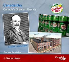 Canada Dry is a Great Canadian Brand in our books. Canada 150, My Roots, All About Time, 1950s, Cereal, Books, Cards, Image, Libros