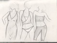 Fashion Sketches by greeneyedwings