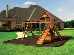 Rubber Mulch, Playground Mulch, Rubberific and NuPlay Recycled Mulch by International Mulch Company