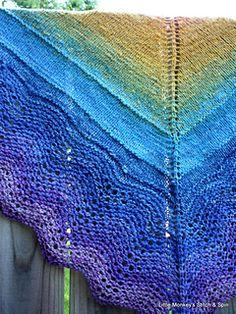 Resonation Shawl -- free knitting pattern by Little Monkey's Stitch n Spin