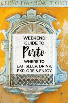 I had the best time in the magical city in the north of Portugal! Porto has a lot to offer the visitor and this guide will help you find the best things to do! Whether you stay for a weekend or a month, here are some of our favorite things to do, and of course tips for eating and drinking too! And we've included a handy google map you can view on your smartphone or computer #porto #portugal #travel #travelguide Weekend Guide to Porto : Fun Things To Do in Porto