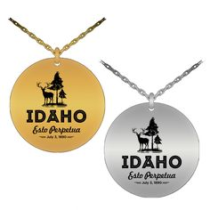 Now available in our store: Idaho Laser-Engra.... Check it out here:  http://www.nanathenoodle.com/products/idaho-laser-engraved-necklace?utm_campaign=social_autopilot&utm_source=pin&utm_medium=pin