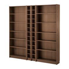 IKEA - BILLY / GNEDBY, Boekenkast, bruin essenfineer, , Verstelbare planken; naar behoefte aan te passen.Oppervlak van het natuurmateriaal fineer.