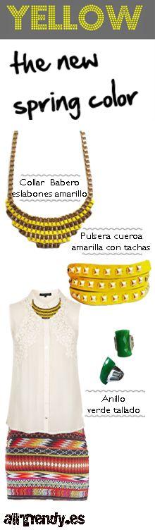 El color amarillo es uno de los colores de la temporada. Anímate a darle este toque especial a tu look con estos accesorios.
