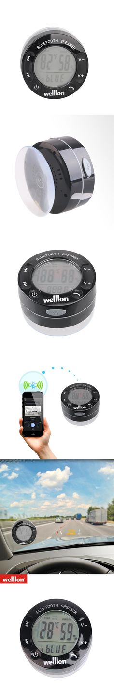 Welllon LCD Display IPX4 Splashproof Portable Shower Speakers Touch-buttons Power-Grip Mini Wireless Bluetooth Loudspeaker