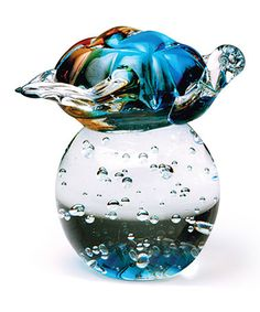 Look at this #zulilyfind! Turtle on Ball Glass Paperweight #zulilyfinds