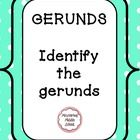 This verbal worksheet on gerunds can be used as a quick practice activity, review, or quiz. An answer key is included.  We developed this as a refr...