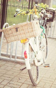 bike & wicker basket--the way to live!