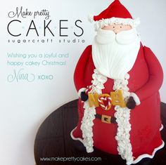 3D Santa Cake - follow the link in the description of the photo to go to the video tutorial