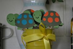 Turtle / turtles ( customize your own) CupCake Toppers (Set of 12)