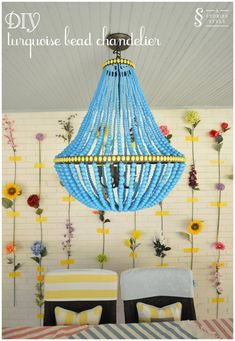 DIY Tutorial: Turquoise Bead Chandelier   A Storied Style   A design blog dedicated to sharing the stories behind the styles we create.