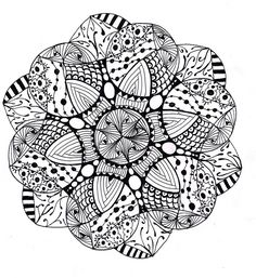 Difficulty Level Mandala Coloring Pages | Mandala1