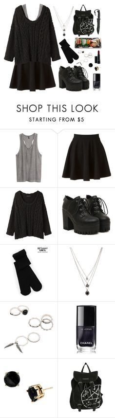 """""""daily outfit: saving people, hunting thing, family business."""" by your-fair-lady ❤ liked on Polyvore featuring H&M, LC Lauren Conrad, rag & bone, Aéropostale, Forever 21, Chanel, Kate Spade, Jura and MAC Cosmetics"""