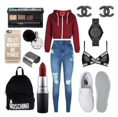 """""""speedy"""" by kaitlyngibson on Polyvore featuring Vans, Lipsy, Moschino, Michael Kors, Chanel, NARS Cosmetics, MAC Cosmetics, Casetify and Designhype"""