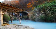 #japan - a rotemburo onsen (outdoor natural hot spring)