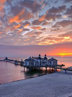 Sunrise at the Pier of Sellin, Rűgen, Germany