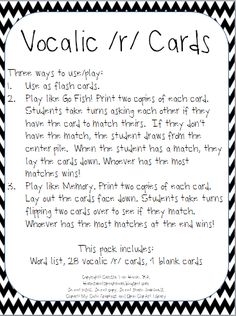Printables Vocalic R Worksheets worksheets for vocalic r phrases repinned by sos inc resources home sweet speech room cards freebie