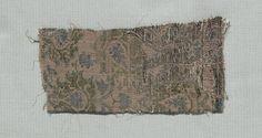 Three Fragments of Italian Gothic Silk, 14th