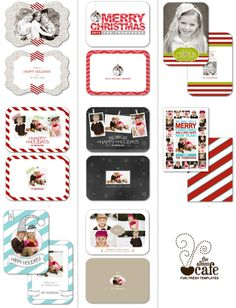 LOVE The Album Cafe #Holiday Templates. We have a few for FREE on iheartfaces.com