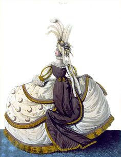 England Court Dress, February 1796.