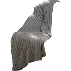 Cable Knit Throw Blanket Color: Grey ($77) ❤ liked on Polyvore featuring home, bed & bath, bedding, blankets, blanket, throws, decor, grey blanket, grey bedding and cable knit blanket