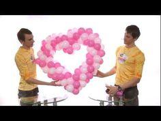 Как сделать сердце из шаров (heart made of balloons) - YouTube