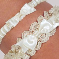 Eleanor Lace Ivory Wedding Garter Set (Cathys Concepts 3056I) | Buy at Wedding Favors Unlimited (http://www.weddingfavorsunlimited.com/eleanor_lace_ivory_wedding_garter_set.html).