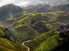 I've always wanted to see the sunrise in the Longji rice terraces of Longsheng county in Guangxi province, China