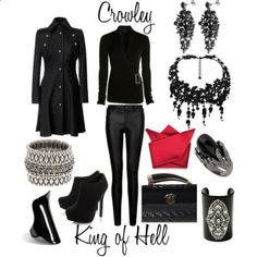 Outfit inspired by Supernatural character Crowley, the King of Hell by shadowsintime on Polyvore