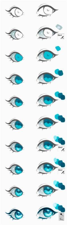 Eye painting tutorial anime 18 Ideas for 2019 Eye Drawing Tutorials, Digital Painting Tutorials, Digital Art Tutorial, Art Tutorials, Digital Paintings, Art Paintings, Cartoon Art Styles, Cartoon Drawings, Cool Drawings